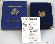 1992 American Eagle 1/10th oz Proof $5 Gold Bullion Coin OGP Replacement Box and COA