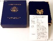 1993 American Eagle 1/10th oz Proof $5 Gold Bullion Coin OGP Replacement Box and COA