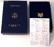 1999 American Eagle Gold Bullion 4-Coin Proof Set OGP Replacement Box and COA