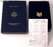 2000 American Eagle Gold Bullion 4-Coin Proof Set OGP Replacement Box and COA