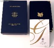 2004 American Eagle Gold Bullion 4-Coin Proof Set OGP Replacement Box and COA