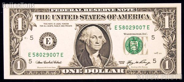 One Dollar Bill Federal Reserve Note Series 2006 Federal