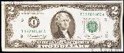 Two Dollar Bill Green Seal FRN Series 1976 US Currency CU Crisp Uncirculated