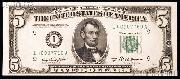 Five Dollar Bill Green Seal FRN Series 1950 US Currency CU Crisp Uncirculated