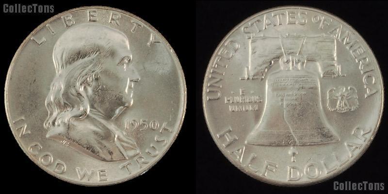 Franklin Silver Half Dollar (1948-1963) One Coin Brilliant Uncirculated Condition