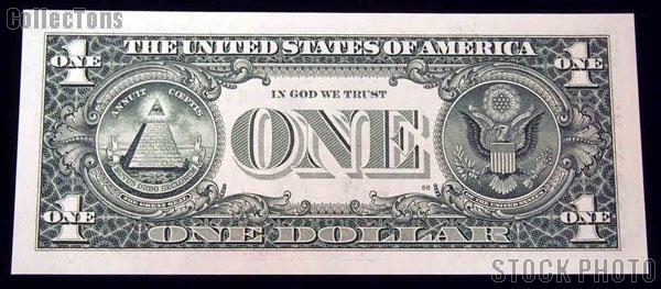 One Dollar Bill Green Seal FRN STAR NOTE Series 1999 US Currency CU Crisp Uncirculated
