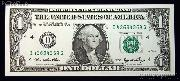 """One Dollar Bill Federal Reserve Note FRN """"REPEATER"""" US Currency CU Crisp Uncirculated"""