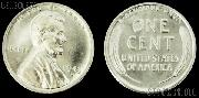 1943 Lincoln STEEL Wheat Cent One Coin Brilliant Uncirculated Condition