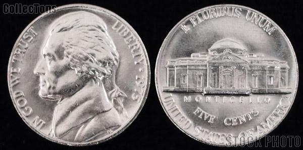 Jefferson Nickel (1938-2003) One Coin Brilliant Uncirculated Condition