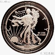 2013-W American Silver Eagle ENHANCED UNCIRCULATED Coin from US Mint Set in Capsule