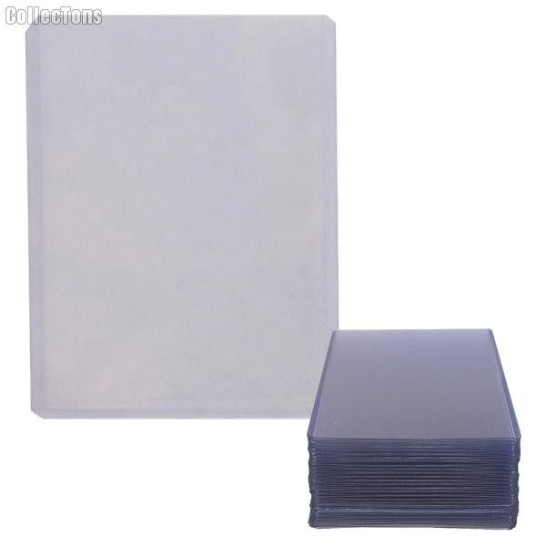 Sports Card Holder 3x4 25 Pack Heavy Duty Plastic Top Loaders