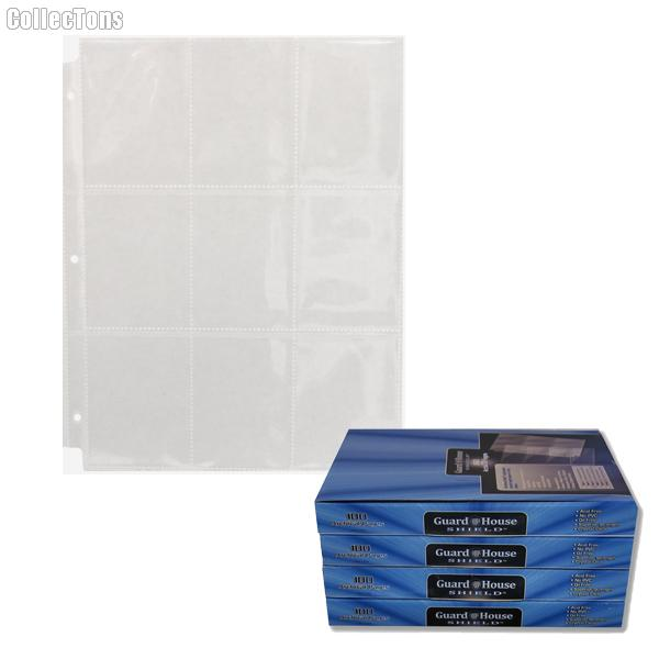 9 Pocket Trading Card Pages by GuardHouse Shield - 10 Pack