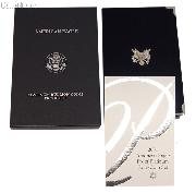 2001-W American Eagle Platinum Proof Set OGP Replacement Box and COA