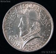 Roanoke Island, North Carolina 350th Anniversary Silver Commemerative Half Dollar (1937) in XF+ Condition