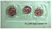 1979 BU Susan B. Anthony Souvenir Set - 3 Coin SBA PDS Set