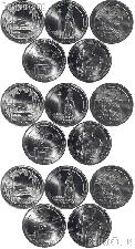 2013 National Park Quarters Complete Set P & D & S Uncirculated (15 Coins) NH, OH, NV, MD, SD