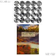 National Park Quarter Complete Set 2010-2014 (25 Coins) with Littleton Deluxe Folder