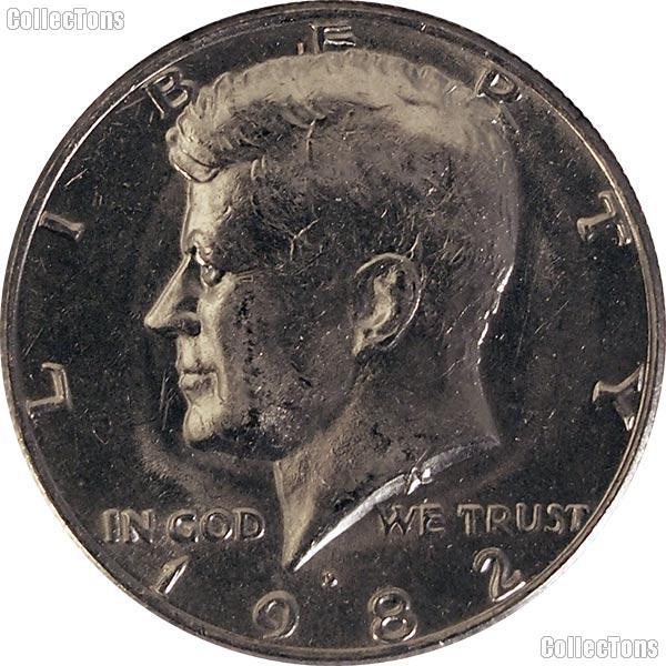 1982-D Kennedy Half Dollar Circulated Coin Good or Better