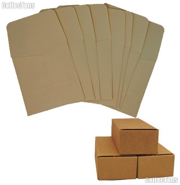 500 2x2 Kraft/Tan Paper Coin Envelopes for Large Dollars