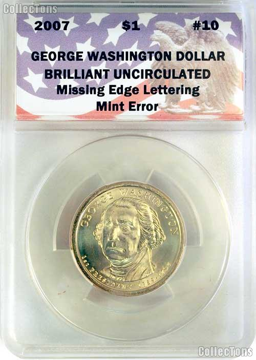 CollecTons Keepers #10 Sale: 2007 Washington Presidential Dollar Missing Edge Lettering