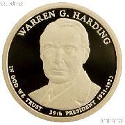 2014-S Warren Harding Presidential Dollar GEM PROOF Coin