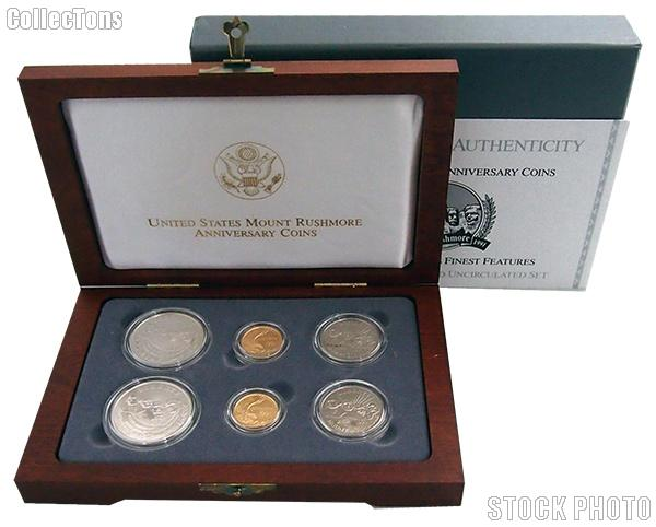 1991 Mount Rushmore Anniversary Commemorative 6 Coin Set