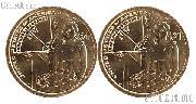 2014 P & D Native American Dollars BU 2014 Sacagawea Dollars SAC