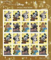 2008 Imagination - Art of Disney 42 Cent US Postage Stamp Unused Sheet of 20 Scott #4342 - #4345