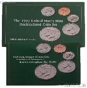 1993 U.S. Mint Uncirculated Set OGP Replacement Envelope and COA