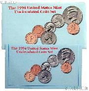 1994 U.S. Mint Uncirculated Set OGP Replacement Envelope and COA