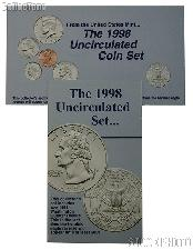 1998 U.S. Mint Uncirculated Set OGP Replacement Envelope and COA