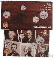 1985 U.S. Mint Uncirculated Set OGP Replacement Envelope and COA