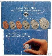 1991 U.S. Mint Uncirculated Set OGP Replacement Envelope and COA