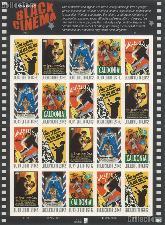 2008 Vintage Black Cinema 42 Cent US Postage Stamp Unused Sheet of 20 Scott #4336 - #4340