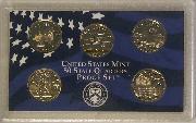 2001 QUARTER PROOF SET * ORIGINAL * 5 Coin U.S. Mint Proof Set