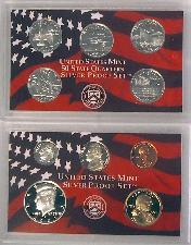2001 SILVER PROOF SET * ORIGINAL * 10 Coin U.S. Mint Proof Set
