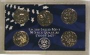 2002 QUARTER PROOF SET * ORIGINAL * 5 Coin U.S. Mint Proof Set