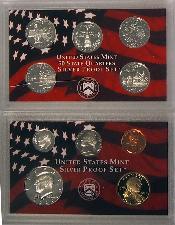 2000 SILVER PROOF SET * ORIGINAL * 10 Coin U.S. Mint Proof Set