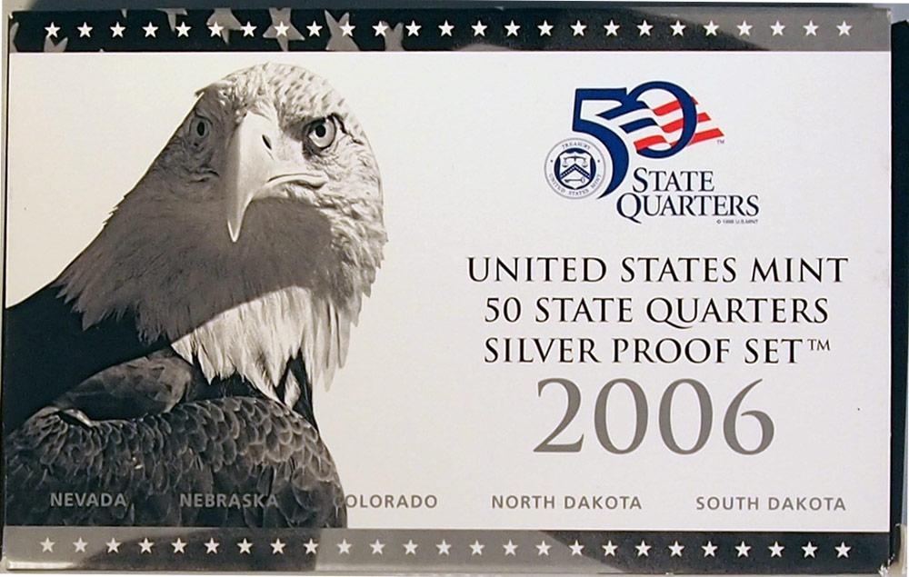 2006 SILVER QUARTER PROOF SET * 5 Coin U.S. Mint Proof Set