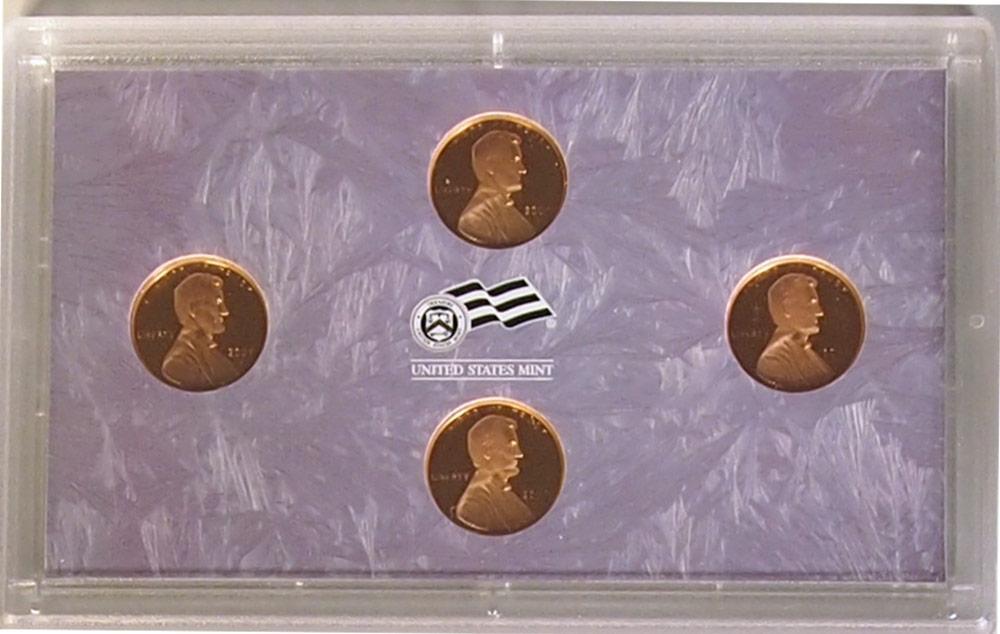 2009 LINCOLN CENT PROOF SET 4 Coin US Mint Proof Set w/ Box & COA