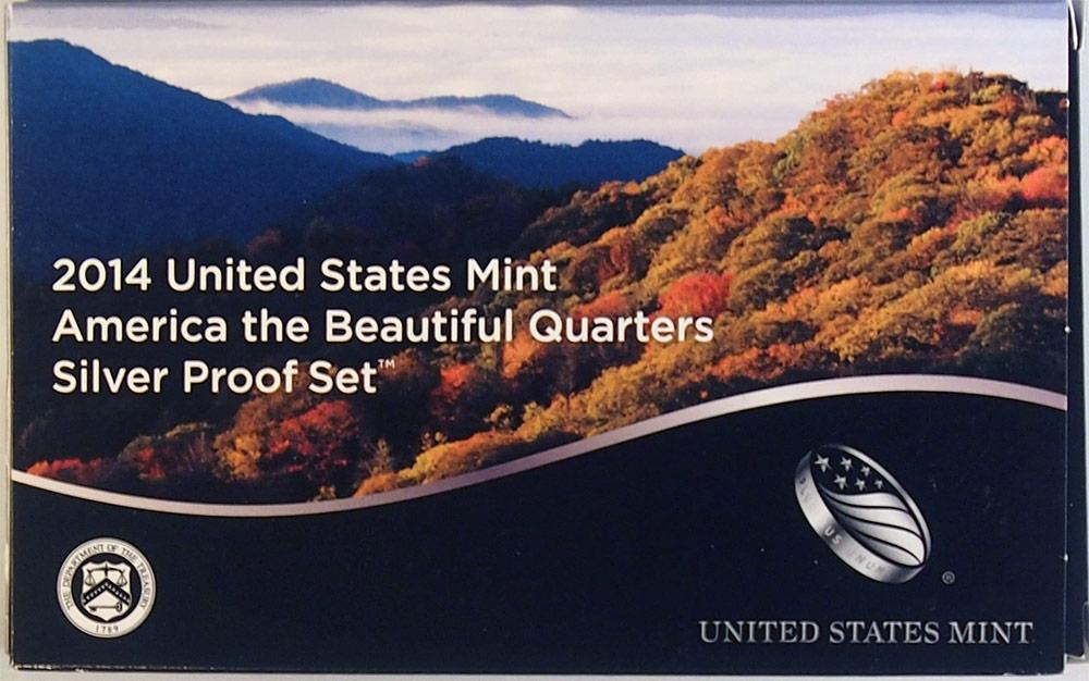 2014 SILVER QUARTER PROOF SET * 5 Coin U.S. Mint Proof Set