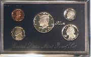 1995 PREMIER SILVER PROOF SET Deluxe Box 5 Coin U.S. Mint Proof Set
