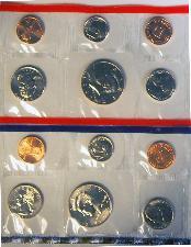 1997 Mint Set - All Original 10 Coin U.S. Mint Uncirculated Set