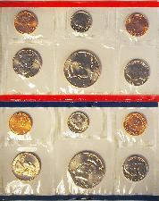 1995 Mint Set - All Original 10 Coin U.S. Mint Uncirculated Set