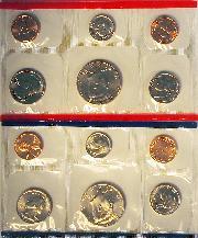1992 Mint Set - All Original 10 Coin U.S. Mint Uncirculated Set