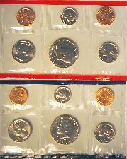 1990 Mint Set - All Original 10 Coin U.S. Mint Uncirculated Set