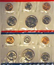 1986 Mint Set - All Original 10 Coin U.S. Mint Uncirculated Set