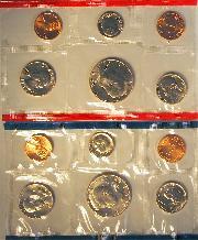1984 Mint Set - All Original 10 Coin U.S. Mint Uncirculated Set