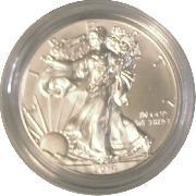 2014-W Burnished BU American Silver Eagle * 1oz Silver