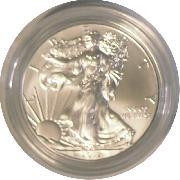 2012-W Burnished BU American Silver Eagle * 1oz Silver